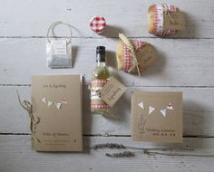 All new 'Summer Fete' wedding stationery suite by Birchwood Handcrafted Invitations ©