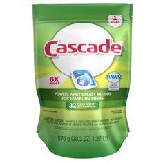 Cascade Dawn Dishwashing Detergent ActionPacs, Fresh Scent, 32 Ct
