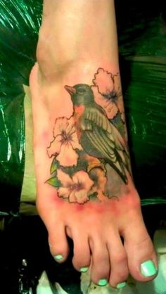 Flowers and a robin :)