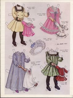 Margaret and Her Dolly. The Delineator was a fashion magazine put out by Butterick Publishing and Pattern Company.  This two-page set is from December 1902.