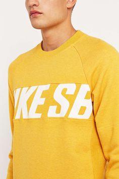 8892523ea14 Nike SB Everett Motion Crewneck Sweatshirt Yellow Nikes