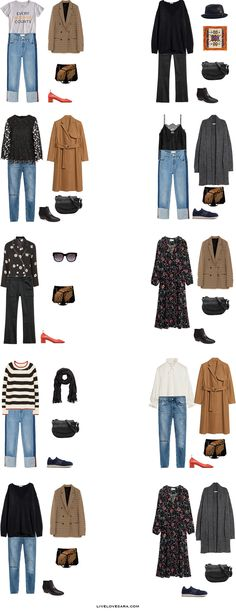 These 20 outfits go with the What to Pack for Paris, France in Spring packing list. If you head over to the original post you can get more details, but in a quick summation, it is for a family's first time trip together. France Outfits, Paris Outfits, Fashion Outfits, Winter Travel Outfit, Casual Winter Outfits, Spring Outfits, Paris Spring Outfit, Outfit Winter, Travel Capsule