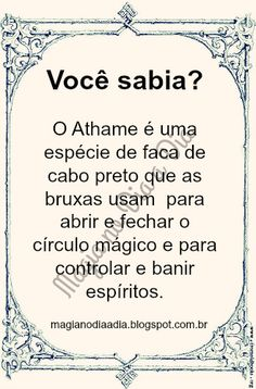 Magia no Dia a Dia: Athame Witch Spell, Pagan Witch, Religion, Baby Witch, Sabrina Spellman, Egyptian Mythology, Wicca Witchcraft, Susa, Magic Words