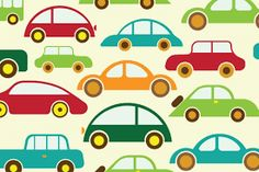 Simple car shapes in bold colours Nursery Wall Murals, Custom Wall Murals, Wall Art, Mobiles, Bold Colors, Colours, Art For Kids, Kids Room, Wallpaper