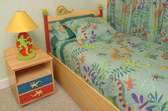 Lizards & Dragonflies Comforter Set, Twin
