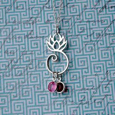 sterling silver lotus flower necklace  lotus by SimpliStamped