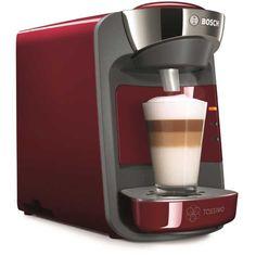 Más pequeña, pero con el mejor sabor, así es la nueva #Cafetera #Bosch #Tassimo Suny, una cafetera con personalidad, que permite la preparación del mejor café, y del más dulce chocolate con solo pulsar un botón