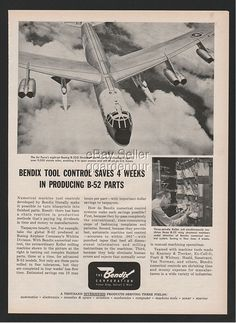 1961 Bendix Air Force B 52 Stratofortress Numerical Control Systems Keller Ad