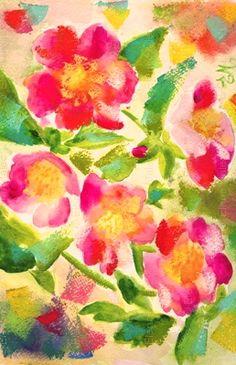 florals pattern watercolor
