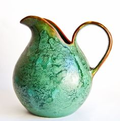 Leon Dissing (Dissing, Denmark), pitcher, late 1930s. The handle is gorgeous!