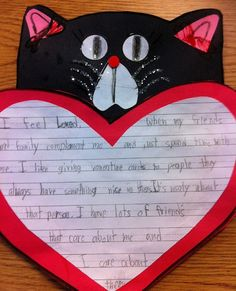 Valentines Day Writing...Great to use with Splat the Cat in Love