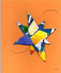 -4- mini weihnachtskarten  #Sterne