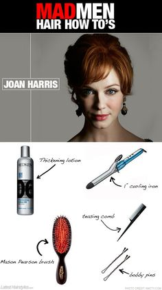 Joan Harris' signature style how-to...ummm YES. #madmen #madmenhairstyles