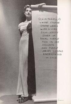 Elsa Schiaparelli Fashion by  George Hoyningen-Huene, 1938.