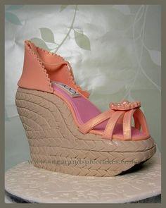 Jimmy Choo Wedge Shoe Cake ~