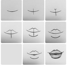 Delineate Your Lips Tutorial. How to draw lips :) - How to draw lips correctly? The first thing to keep in mind is the shape of your lips: if they are thin or thick and if you have the M (or heart) pronounced or barely suggested. Pencil Art Drawings, Art Drawings Sketches, Cute Drawings, Drawings Of Faces, Art Drawings Easy, Drawing People Faces, Draw Faces, Art Illustrations, Drawing Lessons