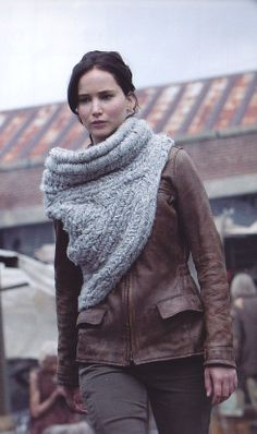 Katniss Cowl Sweater by Maria Dora (woven not knit) #hungergames