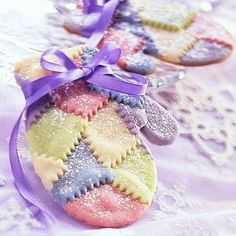 Patchwork Mittens Soft Dreamy Sugar Cookies