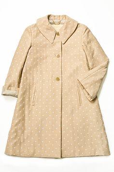 polka dotted Jane Marple coat