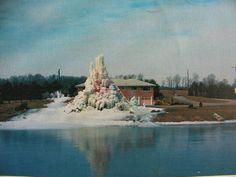 Veal's Ice Tree & Ice Slide, late 1960's. Notice the Ice Slide on the left side of the Ice Tree.