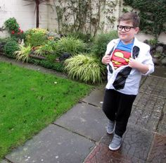 How to Make a Superman/Clark Kent Halloween Costume. Learn how to make a Superman/Clark Kent costume with these step-by-step instructions. Photos of the costume I made for my son are included to help you follow along with the process.