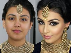 Pin for Later: 12 YouTube Tutorials That Will Convince You to DIY Your Bridal Makeup South Asian Bridal Makeup How-To