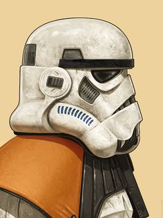 'Star Wars' inspired portraits of 'Nein Nunb' and 'Sandtrooper' by Mike Mitchell, are a TIMED edition print release from Mondo, in collaboration with ACME Archives. Star Wars Clone Wars, Star Wars Day, Star Wars Pictures, Star Wars Images, Marvel Movie Posters, Marvel Movies, Mike Mitchell, Cuadros Star Wars, Star Wars Jokes