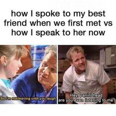 30 Funny Memes To Share With Your BFF For National Best Friend Day is part of humor - Because you and your BFF are true friendship goals Funny Friend Memes, Crazy Funny Memes, Really Funny Memes, Stupid Memes, Funny Relatable Memes, Haha Funny, Funny Texts, Funny Jokes, Funny Friends