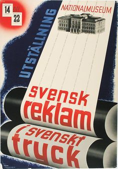 By Anders Beckman Swedish), Swedish Exhibition Poster, National Museum