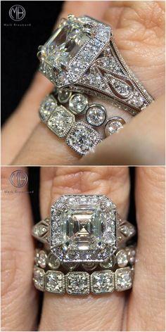 Unique Custom Engagement Ring Follow @markbroumand