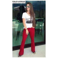 WEBSTA @ ciadapelle - Do trabalho ao Happy- Hour!Calça jeans flare vermelha.. Ótima opção para sua sexta-feira.#ciadapelle #vempraca ☎📞Liga (31) 2512-4590📲WhatsApp (31) 99359-1568Av.Silva Lobo 1071 Barroca/BH..