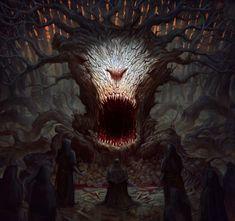 A árvore da floresta das sombras. Centro do culto dos filhos do escuro.