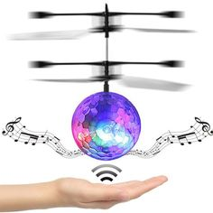 RC Toy EpochAir RC Flying Ball, RC Drone Helicopter Ball Built-in Disco Music With Shinning LED Lighting for Kids Dec13
