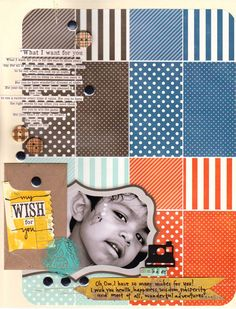 """My Wish for You""  layout by Mou Saha  Love the rounded corners and blocks."