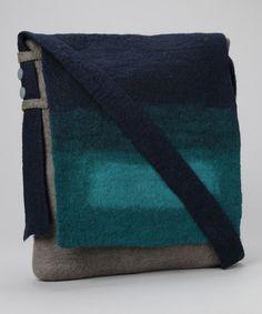 wool felt purse.