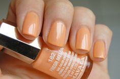 Mavala 182 - Fresh Melon *Love this! Orange Nail Polish, Nail Polish Colors, Mavala Nail Polish, Neutral Nails, Mani Pedi, Nail Care, Swatch, Make Up, Beauty