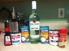 to Make Coquito (Puerto Rican Eggnog) With No Eggs Gather all of your supplies. Click pic for full view.Gather all of your supplies. Click pic for full view. Christmas Drinks, Holiday Drinks, Party Drinks, Fun Drinks, Yummy Drinks, Holiday Recipes, Alcoholic Drinks, Cocktails, Yummy Food