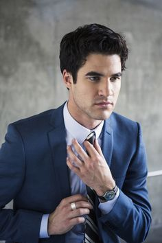 Perfect business look for a young man. [Darren Criss (Sami Drasin Photography)]