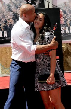 """Dwayne """"The Rock"""" Johnson with daughter Simone Alexandra Johnson at the Hand And Footprint Ceremony Dwayne Johnson Family, Dwayne Johnson Daughter, The Rock Dwayne Johnson, Rock Johnson, Dwayne The Rock, Hollywood Actor, Hollywood Actresses, Actors & Actresses, Celebrity Gossip"""
