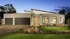 Like this style of facade. Dennis Family Homes: Hartley. Visit www.allmelbournebuilders.com.au for all display homes and building options in Victoria