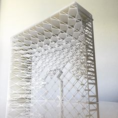 """nexttoparchitects: """"by A part of the building we submitted for the city of Madina museum competition : the high elevation long), based on the geometry of. Architecture Model Making, Pavilion Architecture, Amazing Architecture, Contemporary Architecture, Folding Structure, Pavilion Design, Arch Model, Moroccan Interiors, Digital Fabrication"""