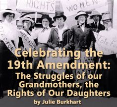 """My mother told me her mother always told her: """"Vote every time you get the chance........it is a right that did not come to us lightly.""""   How many people know that women have had the right to vote for less than 100 Years?"""