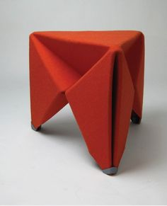 Folding Stool Made of Felt Hardened by Resin