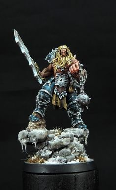 Norsca Berserker with Khorne symbol naturally...