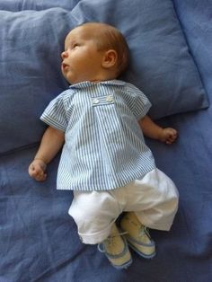 Such a cute outfit for a baby boy. @Lori Bearden Coke this looks right up your alley.
