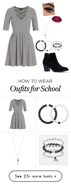 """Outfit for school pics Thursday"" by vireheart on Polyvore featuring Topshop, Lokai, Avenue, Marc Jacobs and Huda Beauty"