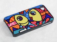 Fish Romero britto - iPhone 4 Case, iPhone