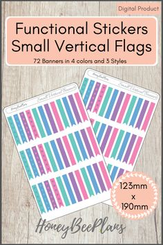 72 Functional Banners stickers in 4 colors, Pink, Blue, Green and Purple and 3 Styles. This sticker kit is designed for planning in your planner. Printable downloadable file allows you to print and cut either by hand or with a cutting machine of your choice. Printable Planner Stickers, Printables, Green And Purple, Pink Blue, Print And Cut, Banners, Outdoor Blanket, Flag, Kit