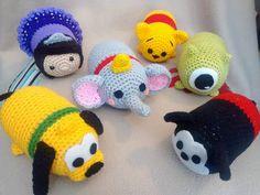 Tsum Tsum Crochet Amigurumi por Lunaticos en Etsy                                                                                                                                                                                 Más