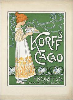 Korffs cacao 1900/1925F. Korff & co Amsterdam via  Belle Brocante